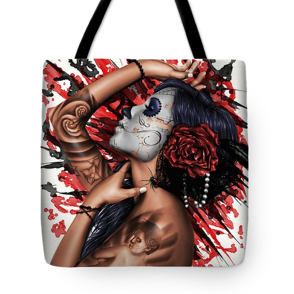 Tote Bag featuring the painting Vidas Angel by Pete Tapang