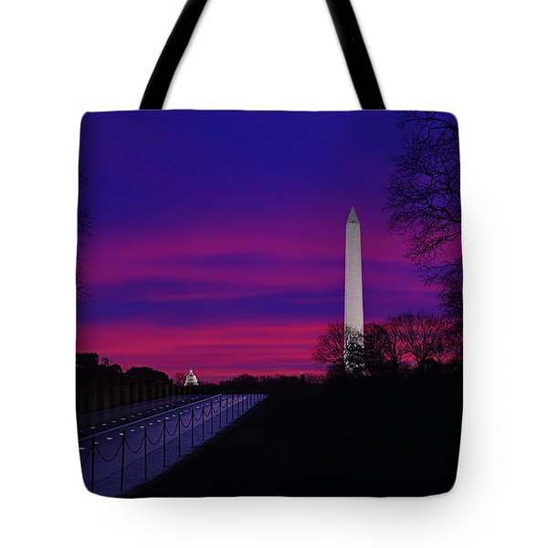 Vietnam Memorial Sunrise Tote Bag