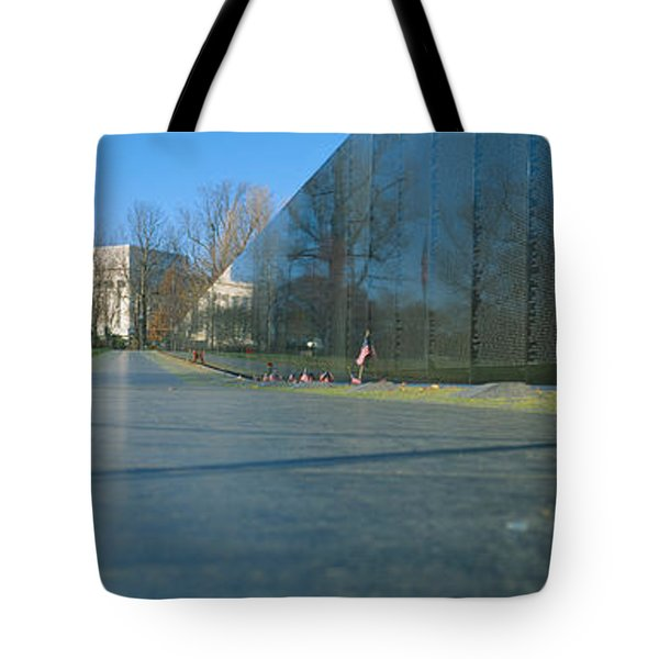 Vietnam Veterans Memorial, Washington Dc Tote Bag by Panoramic Images