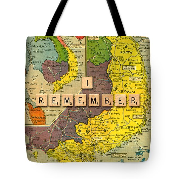 Vietnam War Map Tote Bag