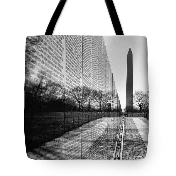 Tote Bag featuring the photograph Vietnam War Memorial Washington Dc by John S