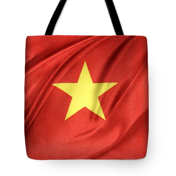 Vietnamese Flag Tote Bag by Les Cunliffe