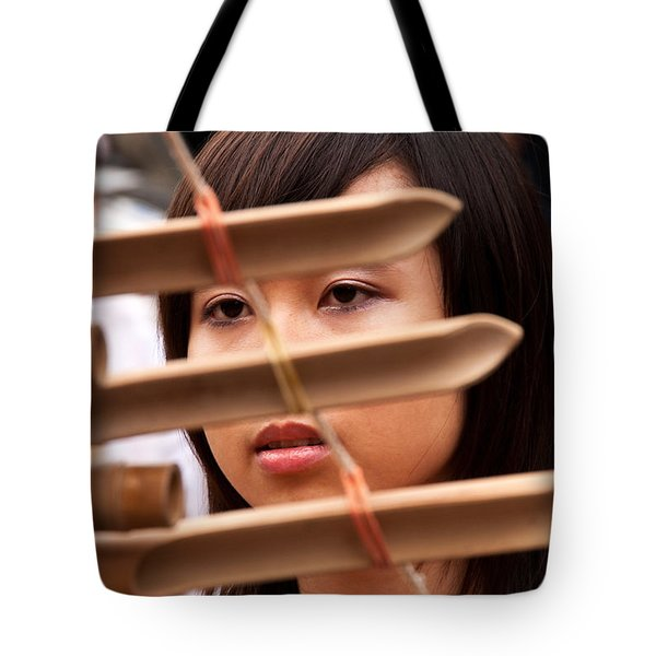 Vietnamese T'rung Player Tote Bag by Rick Piper Photography