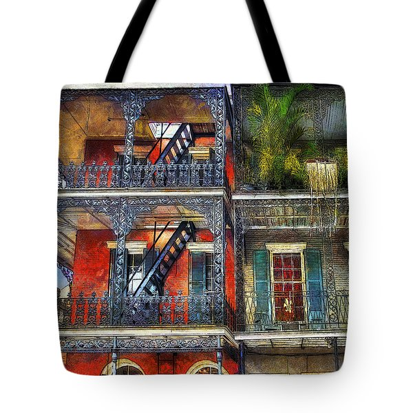 Tote Bag featuring the photograph Vieux Carre' Balconies by Tammy Wetzel