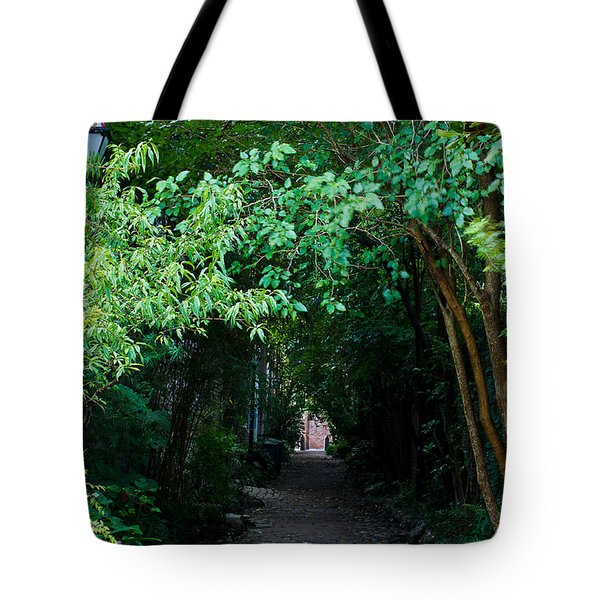 View Down Philadelphia Alley Tote Bag