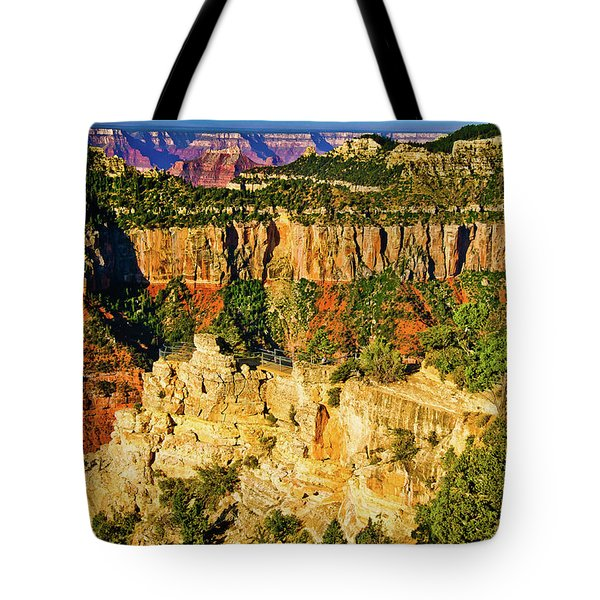 Tote Bag featuring the photograph View From Angel Point  by Bob and Nadine Johnston