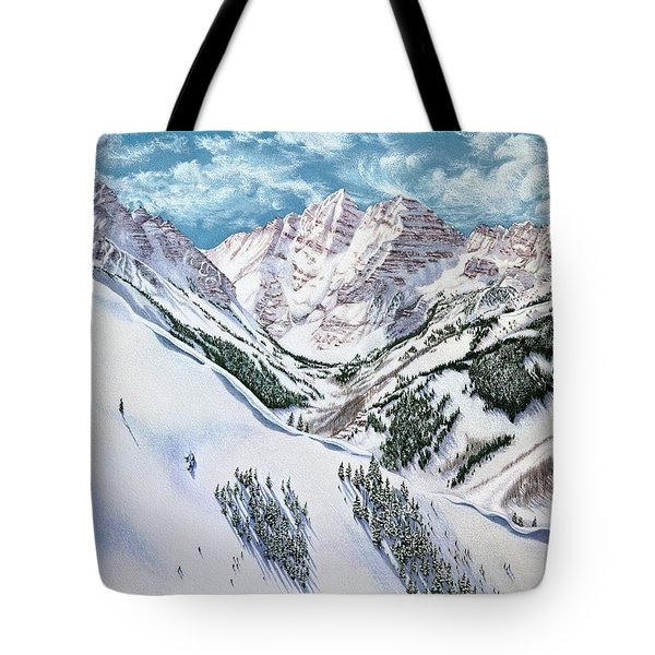 View From Aspen Highlands Tote Bag
