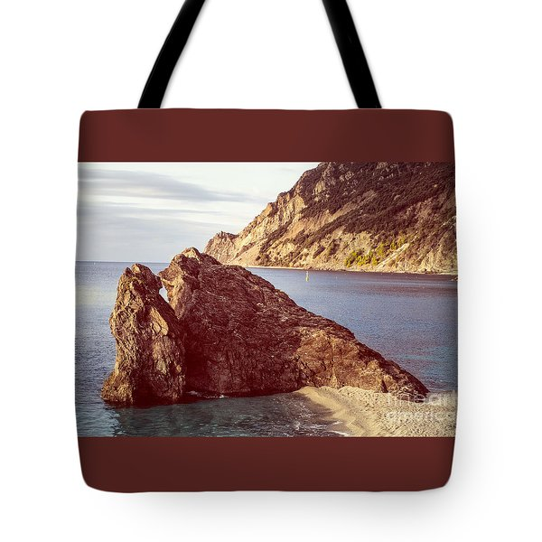 View From Beach Of Monterosso Tote Bag