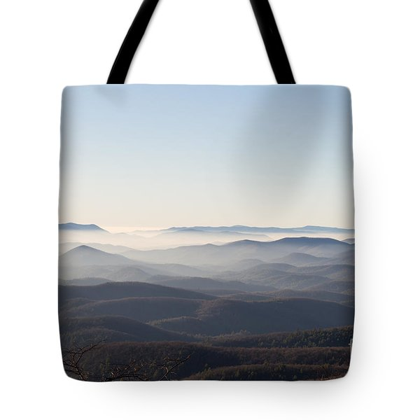 View From Blood Mountain Tote Bag by Paul Rebmann