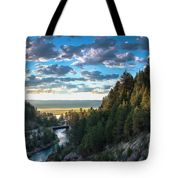 View From Cascade Dam Of The North Fork Of The Payette River Tote Bag by Robert Bales