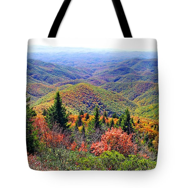 View From Devil's Courthouse Rock Tote Bag
