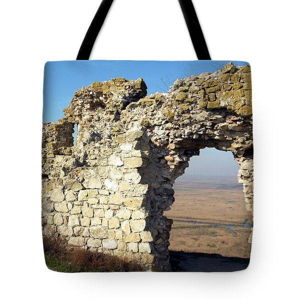 View From Enisala Fortress 2 Tote Bag