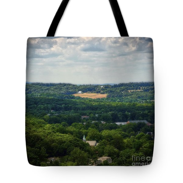 Tote Bag featuring the photograph View From Goat Hill by Debra Fedchin