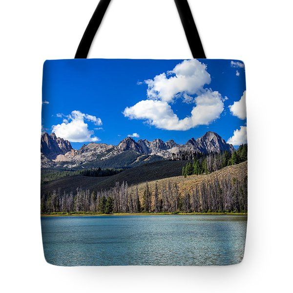 View From Little Redfish Lake Tote Bag by Robert Bales