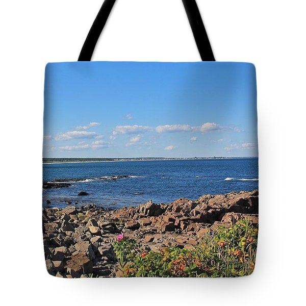 View From Marginal Way Ogunquit Maine 3 Tote Bag