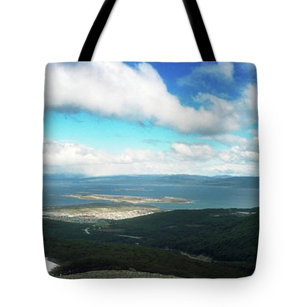 View From Martial Glacier, Ushuaia Tote Bag