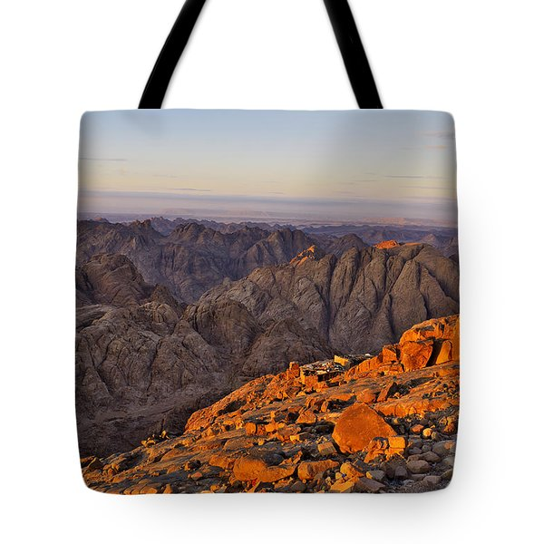 View From Mount Sinai Tote Bag by Ivan Slosar