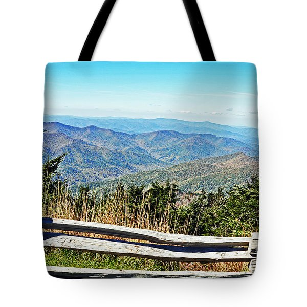 View From Mt. Mitchell Summit Tote Bag