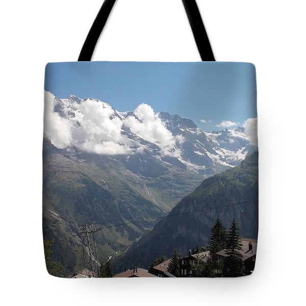 View From Murren Tote Bag