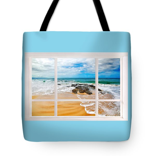 View From My Beach House Window Tote Bag