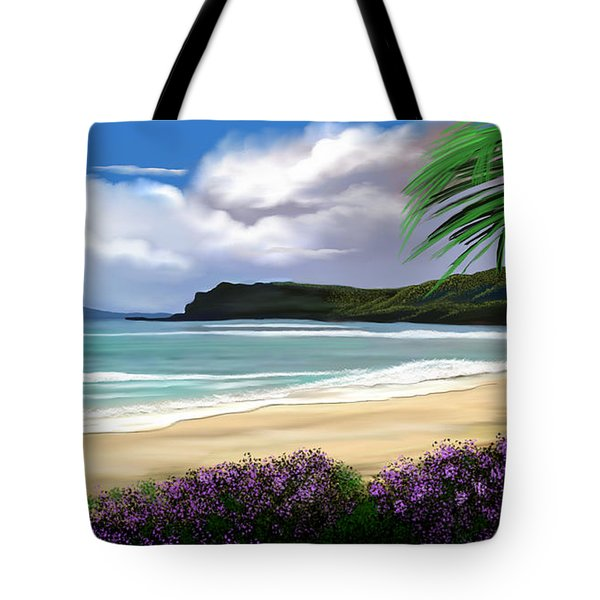 View From My Villa Tote Bag by Anthony Fishburne