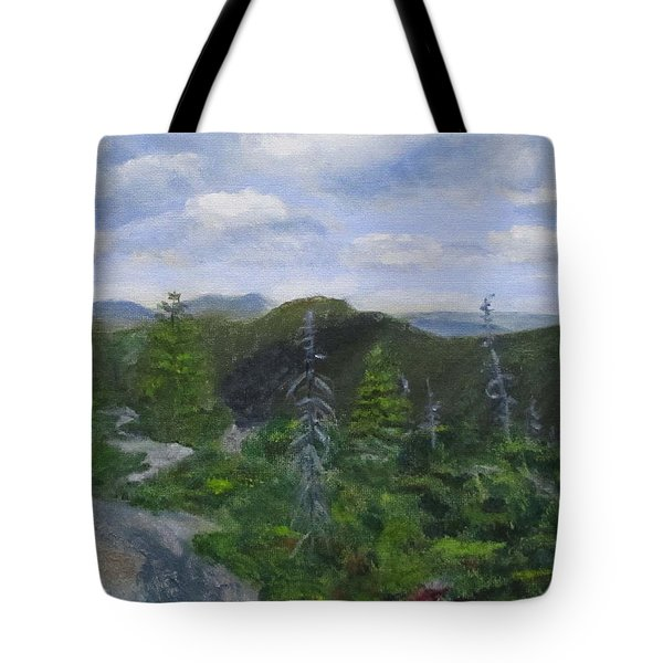 View From Noon Peak Tote Bag