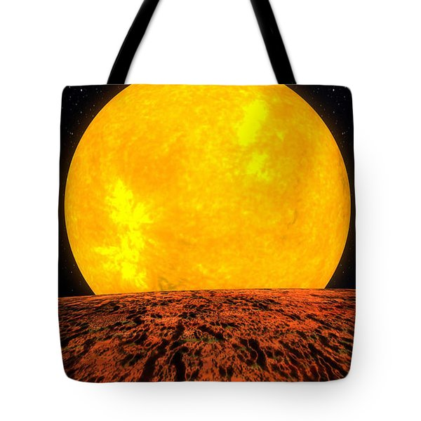 View From Planet Kepler 10b Tote Bag by Movie Poster Prints
