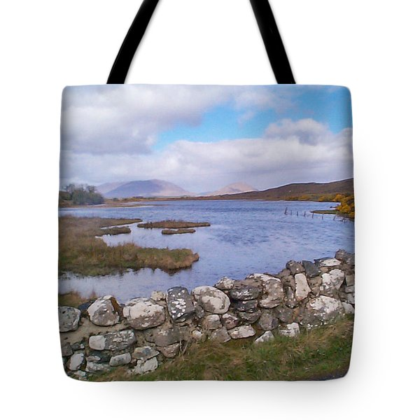 View From Quiet Man Bridge Oughterard Ireland Tote Bag