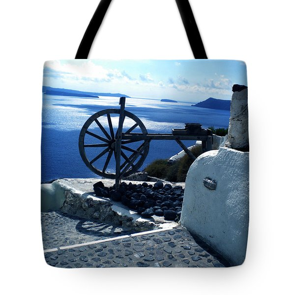 Tote Bag featuring the photograph View From Santorini Island Greece by Colette V Hera  Guggenheim