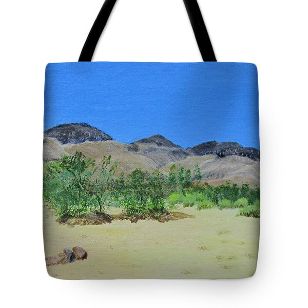 View From Sharon's House - Mojave Tote Bag