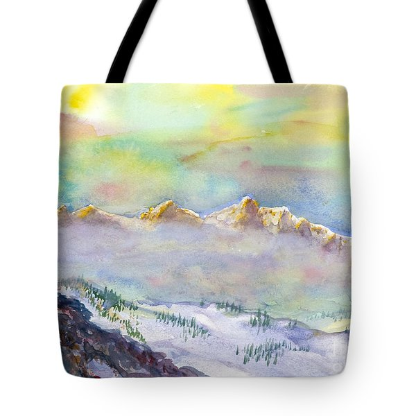 View From Snowbird Tote Bag