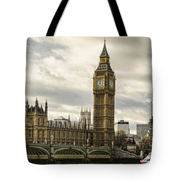 View From Southbank Tote Bag by Heather Applegate