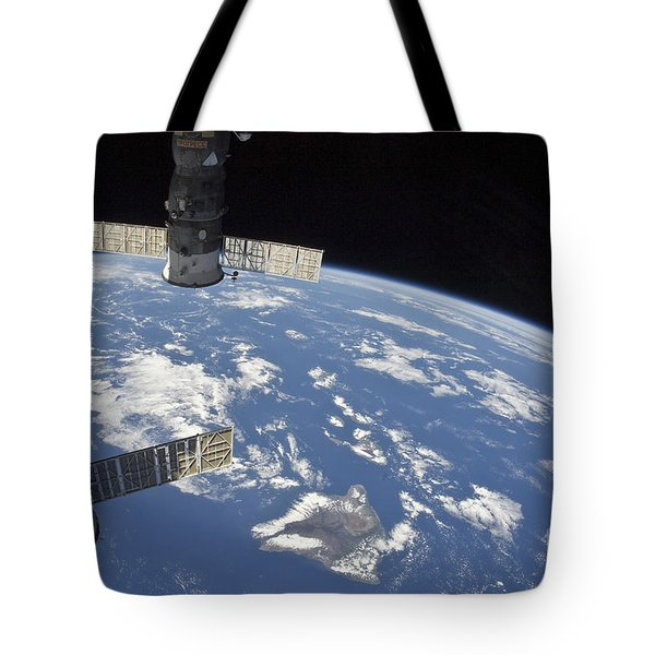 View From Space Showing Part Tote Bag by Stocktrek Images