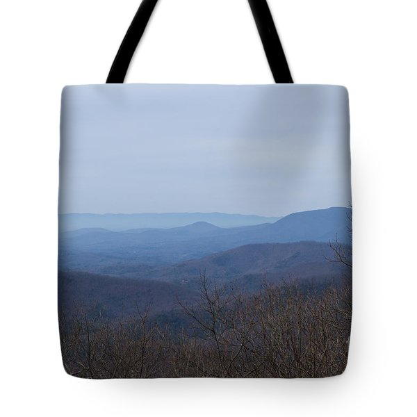 View From Springer Mountain Tote Bag by Paul Rebmann