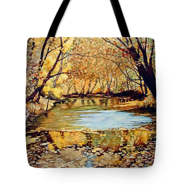 View From The Covered Bridge Tote Bag