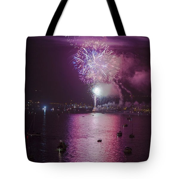 View From The Deck Tote Bag by Scott Campbell