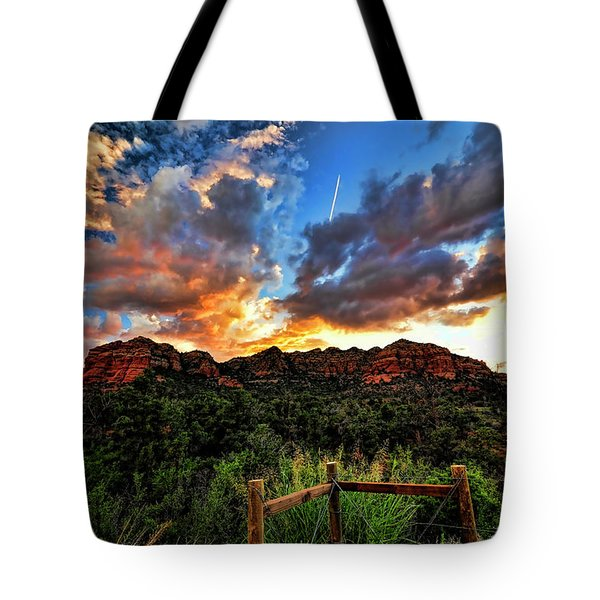 View From The Fence  Tote Bag