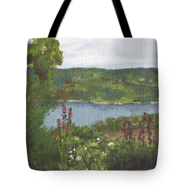 View From The Garden Tote Bag