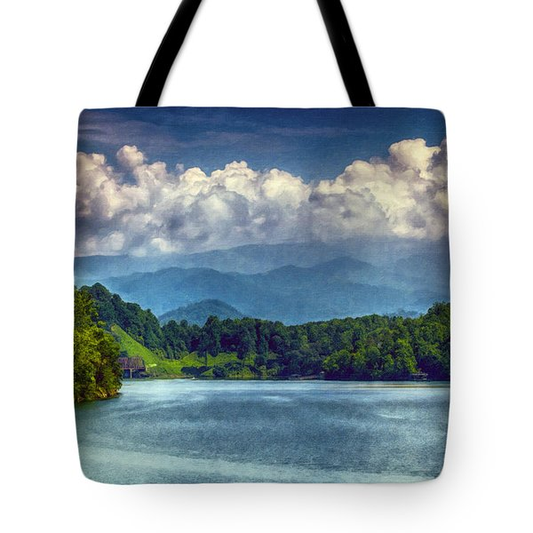 View From The Great Smoky Mountains Railroad Tote Bag