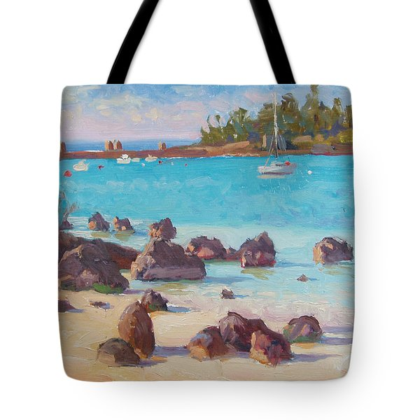 View From The Grotto Tote Bag by Dianne Panarelli Miller