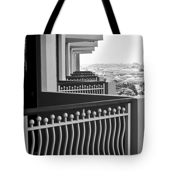 View From The Hotel Balcony Tote Bag