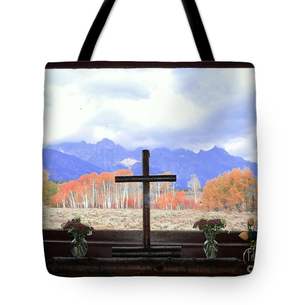 View From The Inside Tote Bag by Kathleen Struckle