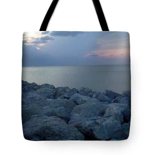 View From The Jetty Tote Bag by K Simmons Luna