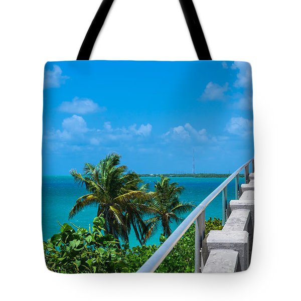 View From The Old Bahia Honda Bridge Tote Bag by John M Bailey