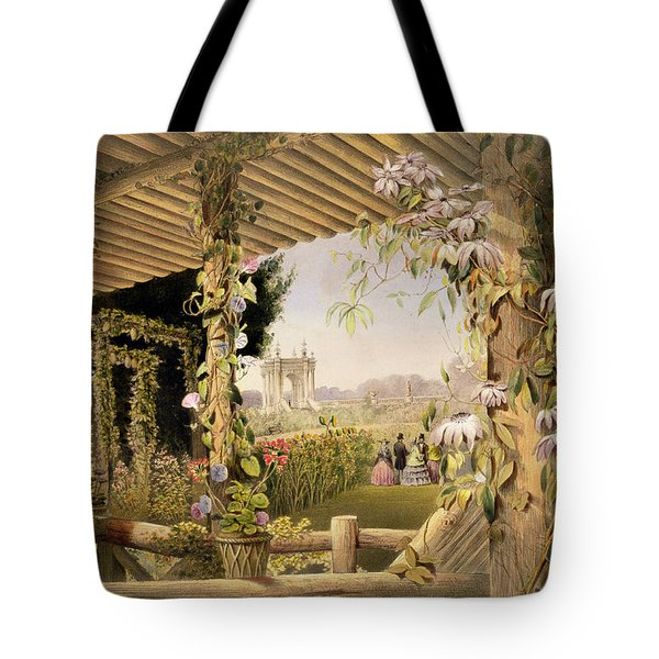 View From The Rustic Seat Shrublands Tote Bag