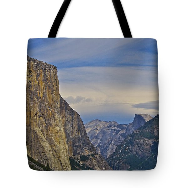 View From Wawona Tunnel Tote Bag