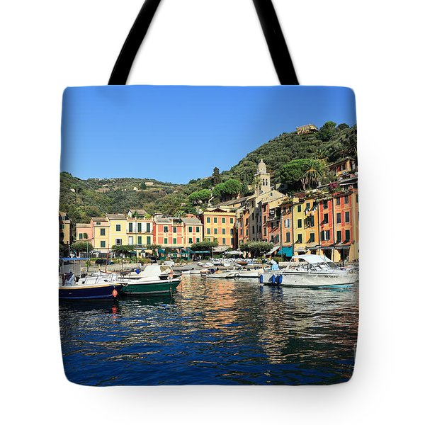 view in Portofino Tote Bag