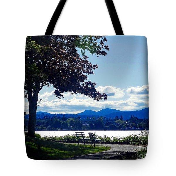 View In Victoria B C Canada Tote Bag