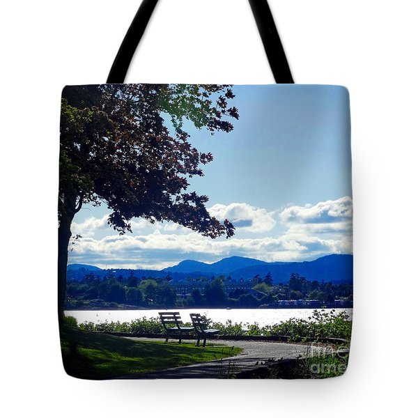 View In Victoria B C Canada Tote Bag