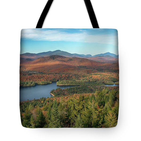 View Of A Lake From Goodnow Mountain Tote Bag
